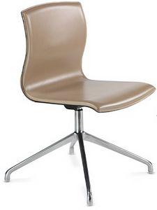 WEBTOP 398, Chaise moderne avec base chromée