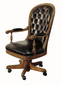 Follonica ME.0955, Chaise exécutive en cuir, pivotant, réglable