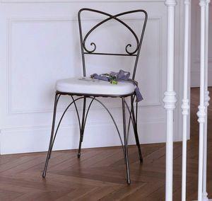 Kelly, Chaise en fer avec coussin amovible
