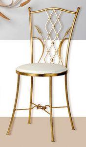 S.6940/4, Chaise en fer forgé avec finition feuille d'or