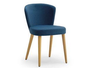 Greta-S, Chaise d'hôtel rembourrée avec mousse de polyuréthane ignifuge