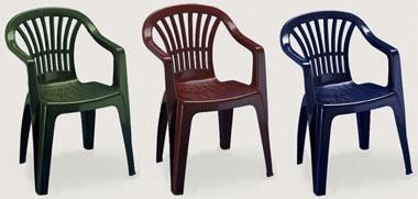 Altea, Chaise d'extérieur avec accoudoirs, en plastique