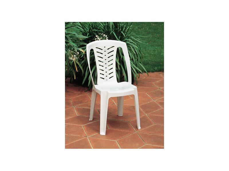 Corona, Chaise en plastique avec dossier haut, pour une utilisation extérieure