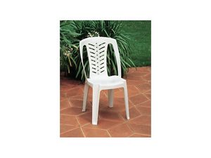 Corona, Chaise en plastique avec dossier haut, pour une utilisation ext�rieure