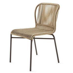 Cricket chaise, Chaise tissée, structure métallique, pour le jardin et bar
