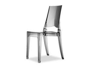 Glenda, Chaise design en polycarbonate, également pour le jardin