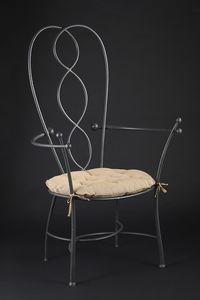 HEART HF2022CH, Chaise de jardin en fonte grise