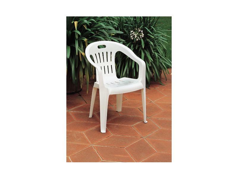 Piona, Chaise empilable en plastique, pour les jardins