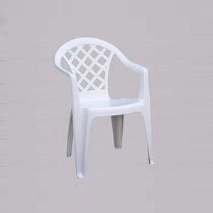 Quadri, Chaise d'extérieur avec accoudoirs, léger, en résine