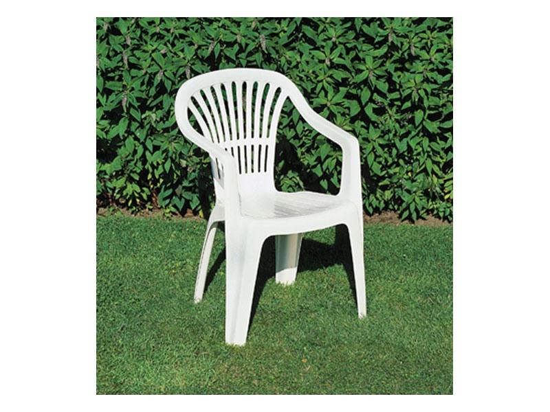 Scilla, Chaise en plastique avec accoudoirs pour les jardins