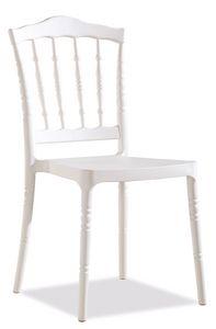SE 164, Chaise empilable en plastique pour jardins