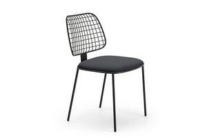 Summer set chaise, Chaise de acier, siège rembourré, pour les bars et terrasses