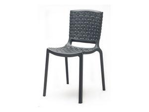 Tatami 305, Chaise empilable en plastique durable pour une utilisation en plein air