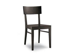 168 bois, Simple chaise en bois massif pour l'usage de contrat