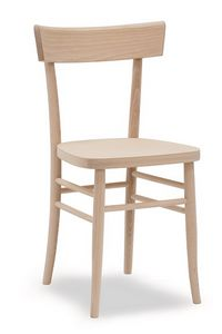 317, Chaise en bois de hêtre massif