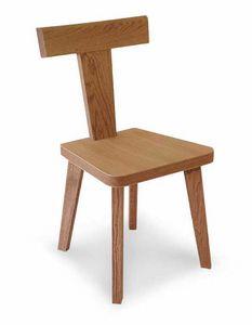 Art. 178/S, Chaise en bois avec dossier en forme de T