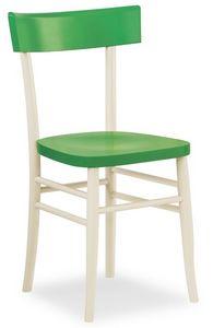 B09, Chaise en bois linéaire, pour les bars et restaurants