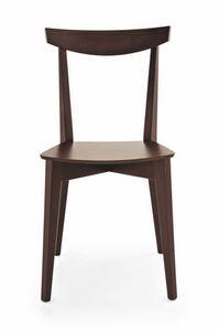 Barù, Chaise linéaire entièrement en hêtre, pour bars et tavernes