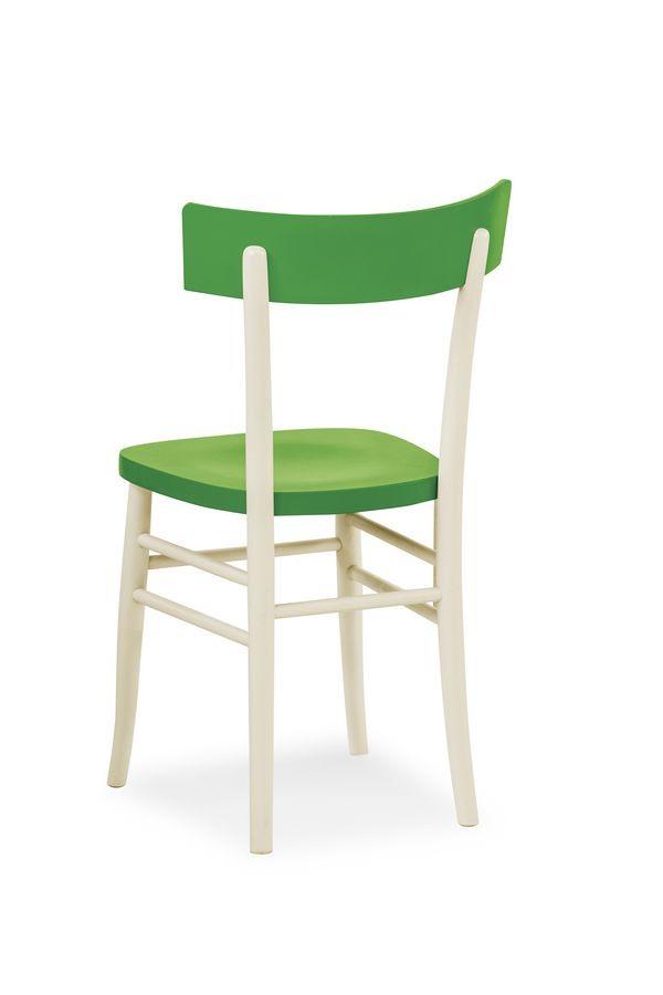 Bicolour, Chaise en différentes couleurs hêtre