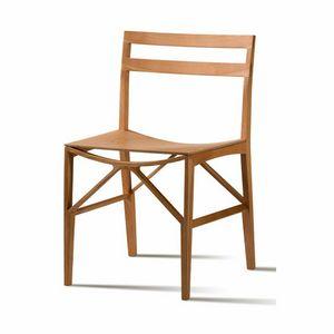 Celeste 5196/F, Chaise en bois de frêne massif