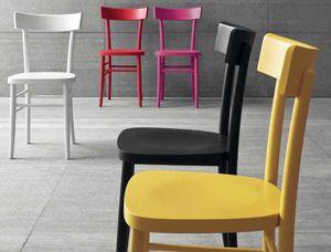 Colours, Chaise en bois laqué coloré