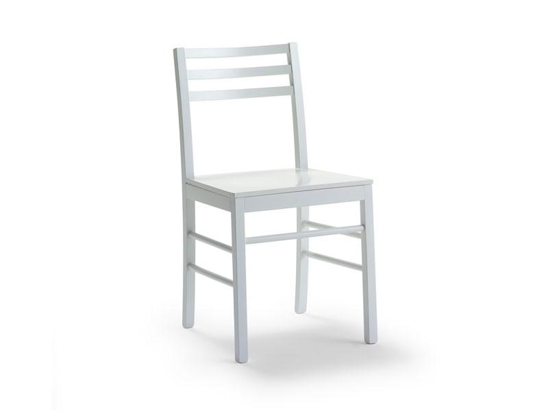 FOGGIA3, Chaise en hêtre verni ou laqué