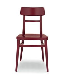 Idea, Chaise linéaire en bois de hêtre, différentes finitions