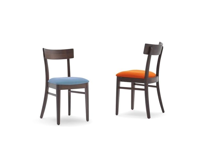 Karen-S, Chaise pour restaurant avec assise rembourrée