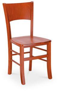 LUNA, Chaise moderne en bois peint