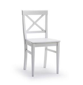 MILADY, Chaise à dossier croisé, en bois de frêne