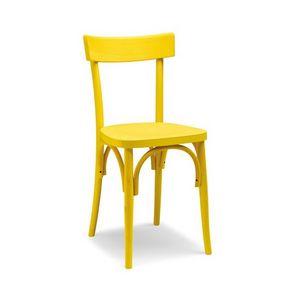 Milano archi, Chaise en bois courbé simple pour les bars et tavernes