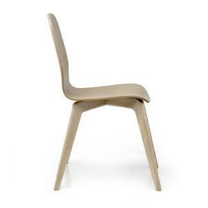 Milù Wood, Chaise en bois au design épuré