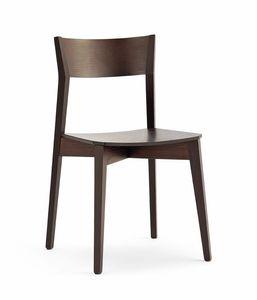 Miss bois, Chaise empilable, en hêtre ou en frêne