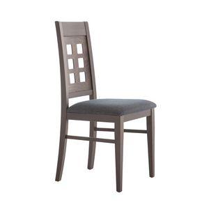 MP490B, Chaise avec dossier en bois perforé