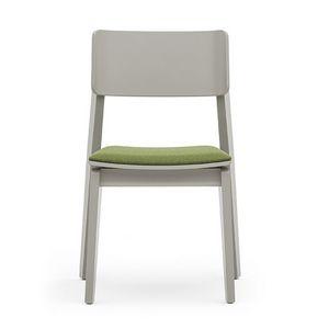 Offset 02812, Chaise en bois polyvalent avec siège rembourré