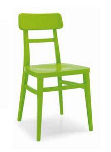 Padana, Chaise en bois laqué ou naturel