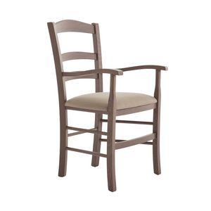 RP42AP, Chaise en bois avec accoudoirs