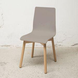 Sedia Bolz, Chaise avec coque en stratifié FENIX