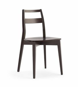 TRIS bois, Chaise en bois résistant, avec siège en contreplaqué