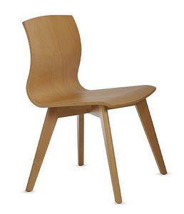 WEBWOOD 357, Chaise entièrement en bois de hêtre