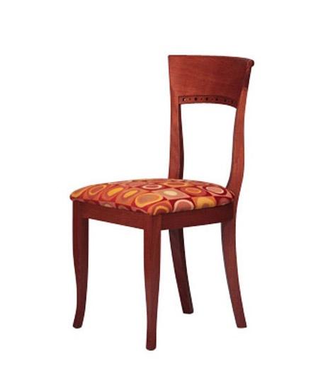 440, Chaise hêtre simple, siège rembourré, un hôtel