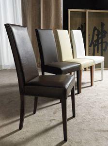 Art. 120 Vertigo Lux, Chaise pour salle à manger, rembourrées, finitions personnalisables