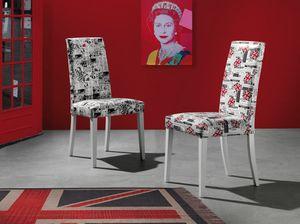 Art. 121 Vertigo Fantasy, Salle à manger chaise, avec sellerie cuir écologique dans divers fantasmes