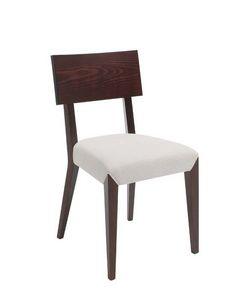 C40, Chaise en bois, rembourrés et recouverts de tissu siège, pour le contrat et l'usage domestique