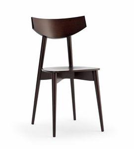 DAYANA bois, Chaise avec siège en contreplaqué, pour cuisine et bar