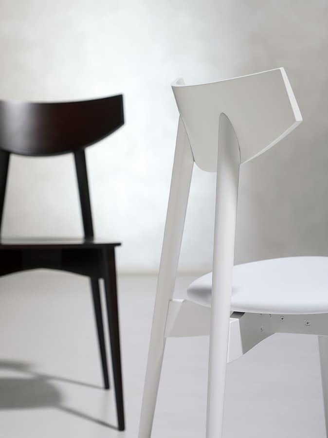DAYANA, Chaire en bois de hêtre pour un usage domestique et de contrat