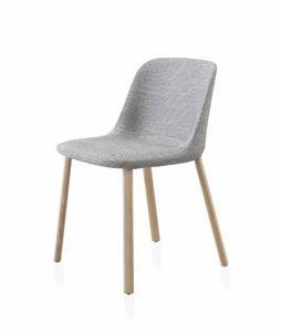 Esse chaise, Chaise rembourrée avec des jambes de bois