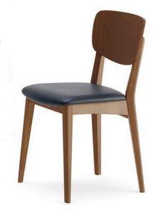Gianna, Chaise en hêtre, siège rembourré, pour une utilisation professionnelle