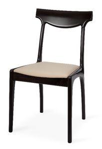 Giuly, Chaise moderne en hêtre, assise, pour les restaurants