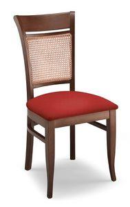Gloria INC, Chaise en hêtre, tapissé le siège et la canne arrière